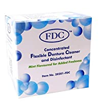 Flexible Denture Cleaner FDC ~ 3 Months Supply ~ Valplast & other Dental Appliances (1 Box (3 Months Supply)) by FDC
