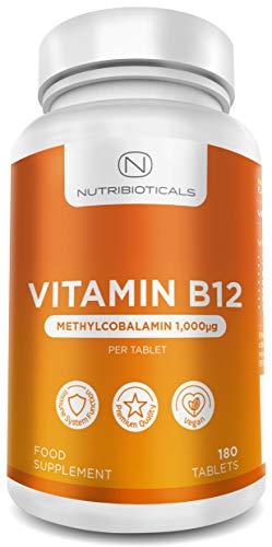 balamin 1000mcg 180 Tabletten (6 Monatsvorrat)   Lindert Müdigkeit und Erschöpfung & die normale Funktion des Immunsystems - AMAZON'S CHOICE für