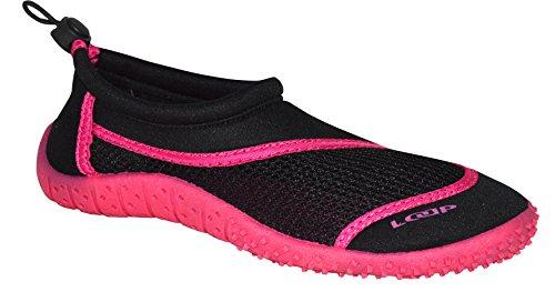 Loap Hank Aquaschuhe   Herren   Damen   Jugendliche   36-46   Neopren   Badeschuhe   Strandschuhe   Schützend   Grün   Rosa, 37, Loap:Black/Pink