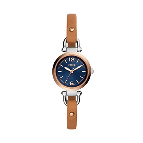 Fossil Women's Analogue Quartz Watch with Leather Strap ES4277