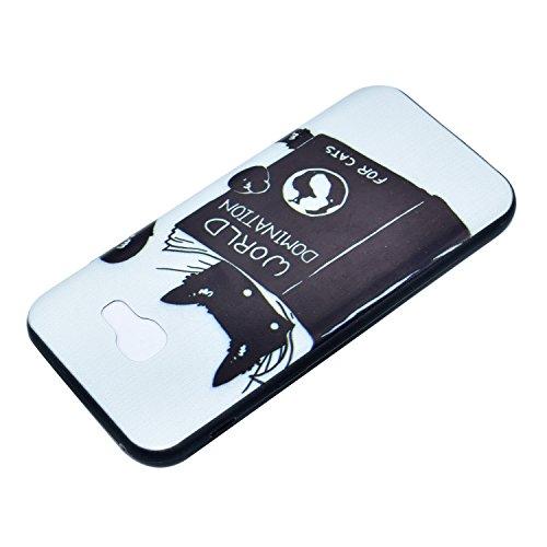 Für IPhone X Hülle Silikon,Sunrive Handyhülle Schutzhülle Etui Case Backcover für IPhone X(Glücklich)+Gratis Universal Eingabestift Katze