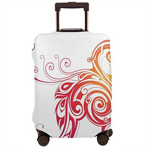 Travel Luggage Cover,Legendary Bird with Swirled Wings Mystical Reborn Several Lives Suitcase Protector (Travel Monster High)