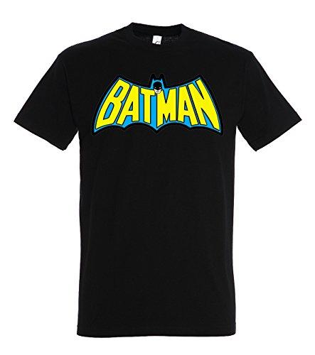 TRVPPY Herren T-Shirt Modell Retro Vintage Batman, Schwarz, L
