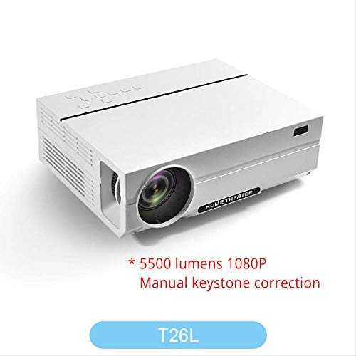 SMEI Projektor Full Hd Beamer Video Led Native 1080p 5500 Lumen T26l Home Cinema T26L Lcd Ceiling Support