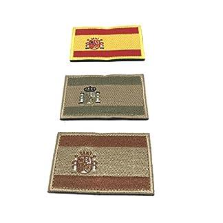 41Qw%2Bw%2B0ifL. SS324  - Kit 3 x Parches España Velcro x España Bandera Táctico bandera con velcro podría ser pegado a la ropa, chaleco, gorra, mochila Directamente