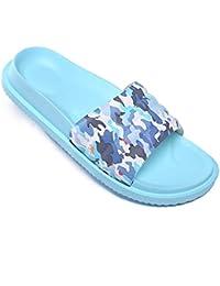 eee48e10c06 Pantoufles de Bain Chaussures de Piscine Antidérapant Sandales Plage  Claquettes Plates pour Hommes Femmes