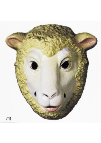 �001–Kostüm–Maske–Fabel von la Fontaine–Schaf (Maske Schafe)