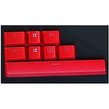 Feicuan Mechanical teclado 8 PBT Replacement Keycap para Corsair K70 STRAFE Logitech G710 -Red