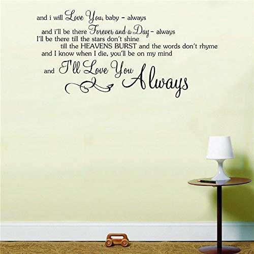 yiyiyaya Bon Jovi Immer Song Music Lyrics Notizen Liebe Zitat Aufkleber Wandkunst Aufkleber Wohnkultur Zimmer Removable Dekoration 85 * 41 cm