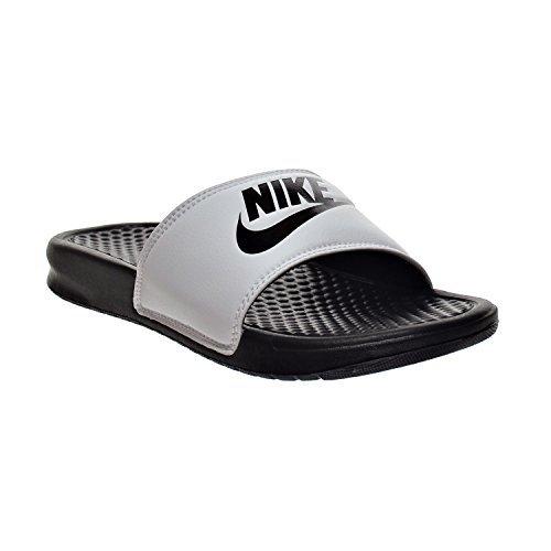 e97323dc24af Nike Benassi JDI Men s Sandals White Black 343880-100 (11 D(M) US) - Buy  Online in Oman.