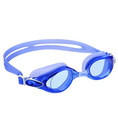 Schwimmbrillen, OMorc Erwachsene Schwimmbrille mit Antibeschlag und 100% UV Schutz Blendschutz Spiegel, Soft Silikon Rahmen und Dichtungen, verstellbare Kopfband und Nasenbrücken für Männer und Frauen
