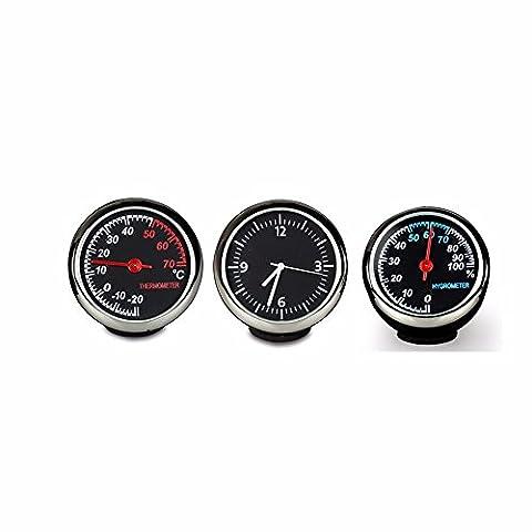 Le tableau électronique du véhicule/nuit lumière réveil automobile/véhicule/Thermomètre Horloge de table d'Intérieur et de l'heure horloge électronique/Quartz/fournitures de garniture automobile + hygromètre thermomètre + Horloge