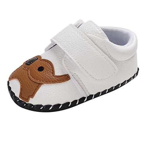 0-18 Meses,SO-buts Bebé Recién Nacido Niñas Niños Otoño Invierno Elefante De Dibujos Animados Primeros Caminantes Zapatos Antideslizantes De Suela Suave Zapatillas De Deporte (Blanco,6-12 Meses)