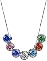 Yellow Chimes Crystals from Swarovski 7 Days 7 Pendants 18K Platinum Plated Pendant Set for Women and Girls