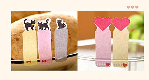 rtoon Lovely Herz Aufkleber Lesezeichen Memo Sticky Studenten Stationery Herstellern (Student Lesezeichen)