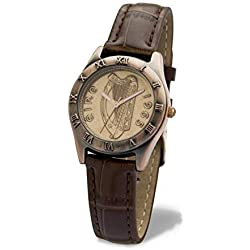 Ladies Irish Halfpenny Watch in Bronze Style with Leather Strap