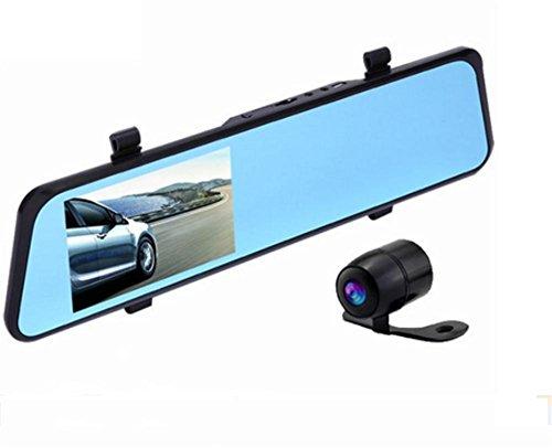 KDLD AutoKamera ®1080p High-Definition 4,3-Zoll-Bildschirm Dual Lens Reverse Spiegelbild-Recorder Recorder Fahren