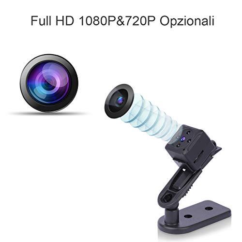 Micro Telecamera Spia Nascosta,NIYPS 1080P Portatile Mini Telecamera di Sorveglianza con Visione Notturna,Sensore di Movimento y Batteria, Senza Fili Esterno/Interno Spy Cam Piccola Microcamera Spia - 3
