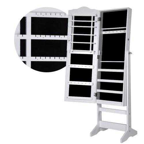 Miadomodo armadio specchio portagioie   158 x 45 x 36.5 cm   per gioielli, a chiave, con specchio   armoire, organizer, armadietto