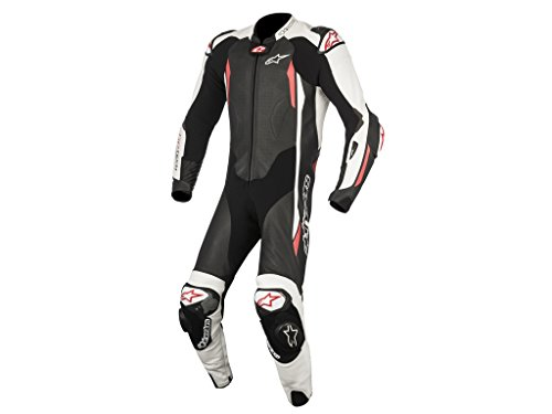Lederkombi Alpinestars GP Tech V2 1PC Einteiler black/white, Black/White/Red, 50
