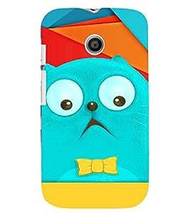 PRINTVISA Cartoon Cat Case Cover for Motorola Moto E