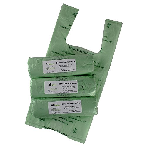 All-Green, Bolsas de Basura biodegradables y compostables (5l, 150 Unidades)