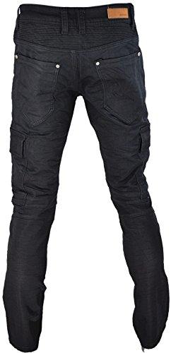 Pantalon toile aspect jeans noir 890