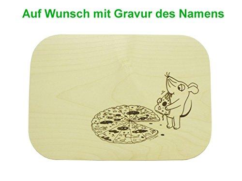 Pizzabrett Pizzateller mit Gravur 26x18cm Schneidebrett