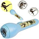 alles-meine.de GmbH 2 Stück _ Taschenlampen & LED Bilder Projektor -  Jurassic World - Dinosaurier  - Projektion mit Verschiedenen Bild Aufsätzen - für Kinder Lampe / Projektor..