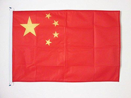 AZ FLAG BOOTFLAGGE China 45x30cm - CHINESISCHE BOOTSFAHNE 30 x 45 cm Marine flaggen Top Qualität China Top