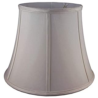 American Pride Lampshade Co. 74-78095722 Round Soft Tailored Lampshade, Shantung, Croissant