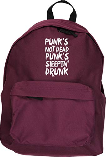 HippoWarehouse Punks Not Dead Punks Sleepin Drunk Kit Mochila Dimensiones: 31 x 42 x 21 cm Capacidad: 18 litros