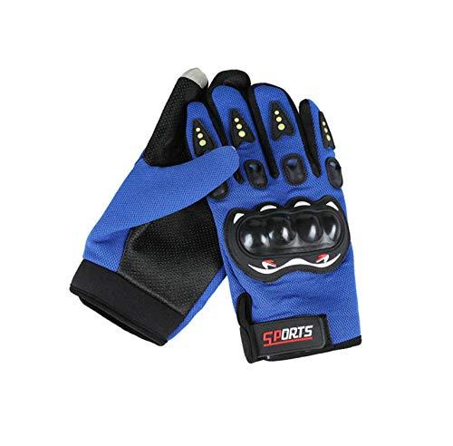 LOUMVE Outdoor Sportarten Anti Rutsch Schutz Karte Knöchelhandschuhe Touchscreen Reiten Fahrrad Anti Fall Handschuhe Blau Freie Größe