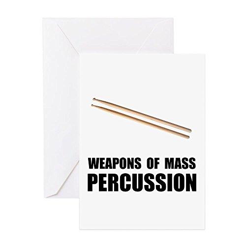CafePress–Drum Mass Percussion–Grußkarte, Note Karte, Geburtstagskarte, innen blanko, glänzend