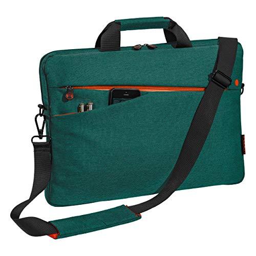 """PEDEA Laptoptasche """"Fashion"""" Notebook-Tasche bis 17,3 Zoll (43,9 cm) Umhängetasche mit Schultergurt, Türkis"""