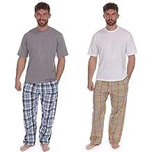 Best Deals Direct UK Pijamas para Hombre Set Top Manga Corta & Tejido Largo Pantalones De