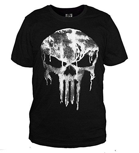 The Punisher Skull Logo Kult T-Shirt Comics Kurzarm M (Punisher Kostüm Shirt)