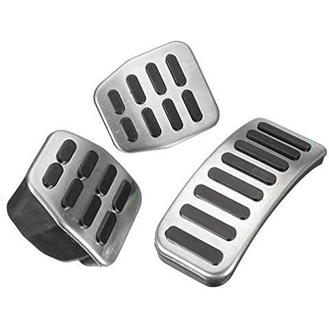 ICT RONIX Set pedale in acciaio inox pedali pedale tappi per Audi/VW Bora Golf MK3MK4IV VENTO Lupo New Beetle Fox - Vw Fox