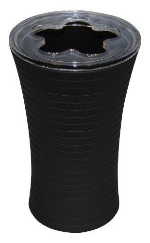 Ridder 22200210 Zahnbürstenbecher, Tower schwarz