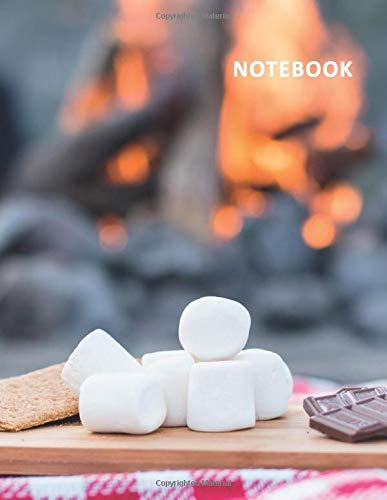 College Ruled Notebook: Smores kit Practical Student Composition Book Daily Journal Diary Notepad for researching best campfire meals