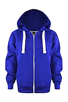 Vanilla Inc Sa Fashions® Boys Girls Junior New Zip Top Plain Fleece Hooded Sports Hoodie Football Boxing Martial Art Activewear Fitness Jacket School Holidays Outwear Coat 3-13 Yr : everything 5 pounds (or less!)