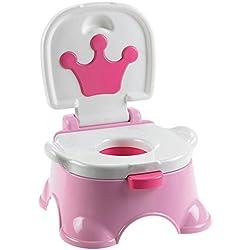 JUEYAN Pot d'apprentissage - 2 en 1 Pot Bébé Toilette/Siège Pot de Toilette Musical - pour Enfant Bébé