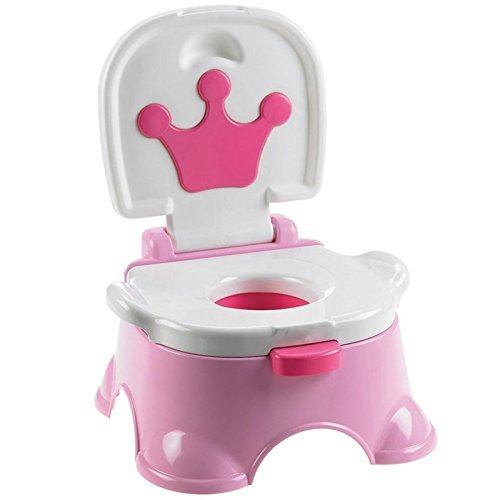 MultiWare 2 In 1 Lerntöpfchen Fisher Rosa Price Toilettentrainer Für Kinder Töpfchen Mit Musik und Fußbank