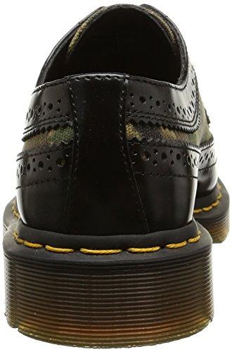 Dr. Martens 3989, Scarpe Stringate Basse Brogue Unisex – Adulto Multicolore (Camo Black)
