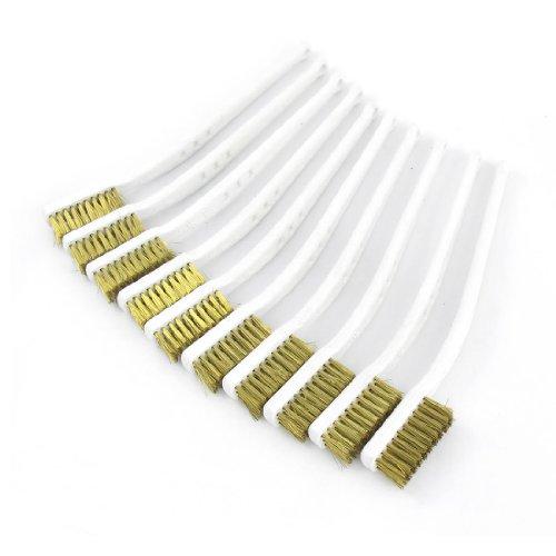 Sourcingmap a13080200ux0296Drahtbürsten mit Kunststoffgriff, Weiß, 17,5cm, 10Stück