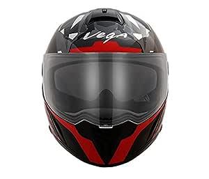 Vega Ryker Camo Full Face Helmet (Black/Red, M)