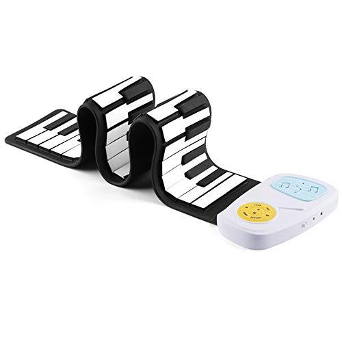 49-Key Hand Roll Piano Kinder-Einstiegs Tastatur Fun Silikon Piano Rainbow Version Der Hand Rollen Piano Kinder-Tastatur