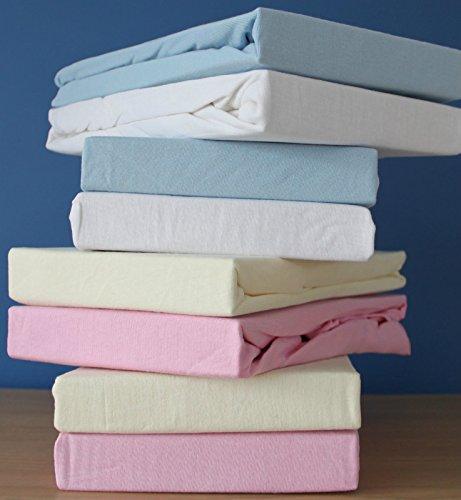 DuDu N Girlie für Kinderbett, Baumwolle Jersey Spannbettlaken Blatt, cremefarben/Rosa, 2Stück (Blatt Kinderbett Blau Jersey)