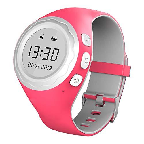 Pingonaut Kidswatch2019 Edition - Kinderuhr mit GPS-Tracker-App, Telefonfunktion, Softwareentwicklung & Hosting in Deutschland, SIM-Karteinklusive, Himbeer Pink