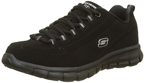 Skechers Agility-Ramp Up, Zapatillas de Deporte Para Mujer, Negro (Bbk), 35.5 EU (2.5 UK)